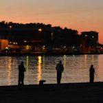 Abendstimmung-auf-unserem-Stellplatz in Karlshamn