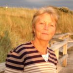 Anne auf der Strandpromenade