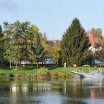 Blick auf die gegenüberliegende Seite der Weser