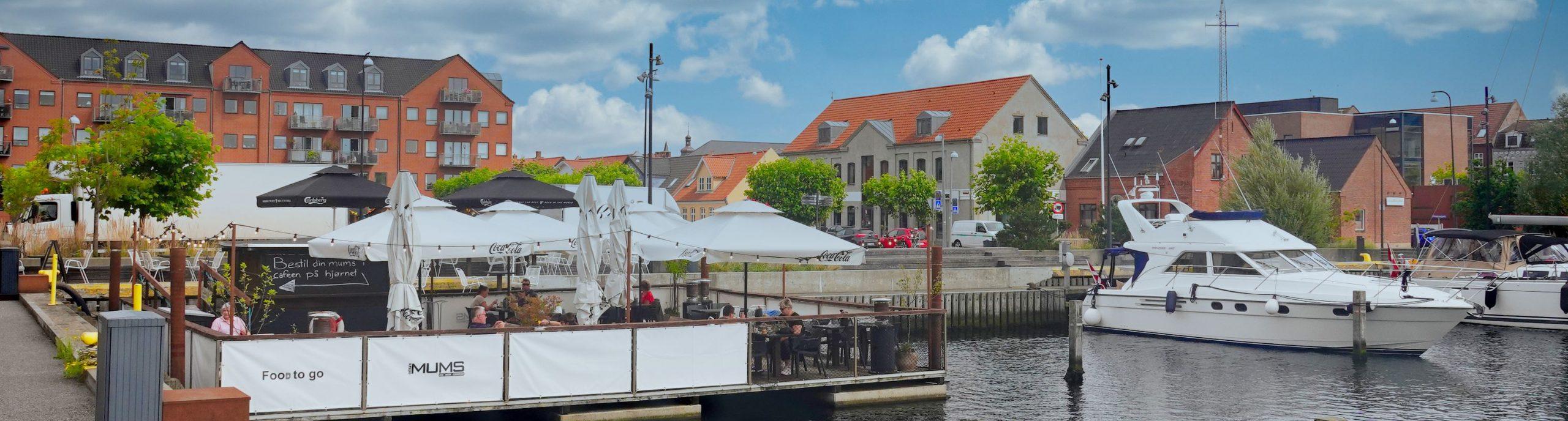 Fredericia City-Hafen-Panorama